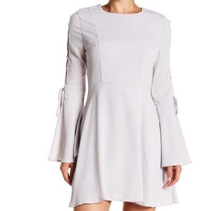 JOA Grey Bell Sleeve Dress